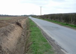 rural road with ditch