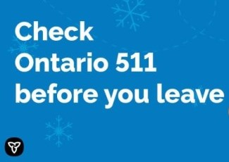 Ontario 511 cell phone logo