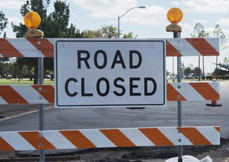 road closure baricade